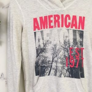 American Eagle Outfitters Tops - American Eagle Graphic Pullover Hoodie